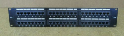 "Excel CAT 6 48 Port 1U 19"" RJ45 Ethernet Rack Mountable Patch Panel T568A/B"